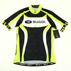 Sugoi RS Team Cycling Short Sleeve Jersey Cannondale Green Black White Small