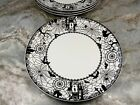 Halloween Dinner Or Salad Plates Wicked Spooky Lace By Ciroa Set Of 4 New