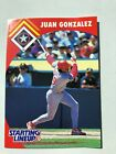1995 Texas Rangers Juan Gonzalez Starting Lineup Baseball Card