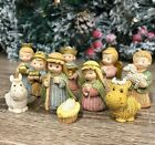 Pastel Childrens Nativity Scene Set 11 Figures Christmas Ornament 89915