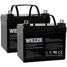 2 Pack 12V 35Ah Battery for Pride Mobility Jazzy Select 6 GT Powerchair Scooter