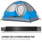 Fiberglass Camping Tent Pole Support Awning Frames Tarp Rod Adjustable TU