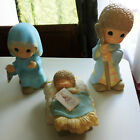 NIB 1999 PRECIOUS MOMENTS LARGE NATIVITY MARY JOSEPH BABY JESUS BIG 12 TALL
