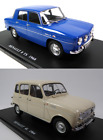 Set of 2 Model Cars Renault R8 + 4L 124 Scale Diecast with Acrylic Case