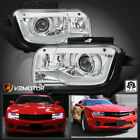 For 2010 2013 Chevy Camaro Clear Projector Headlights Lamps LED Strip Bar Tube