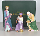 1991 Lenox Renaissance Christmas Nativity Three Kings Wise Men w Original Box