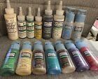 Gallery Glass Window Color Mixed Lot Of 15 Plaid Paint 2oz 4oz NOS Sealed