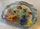 Murano Art Glass Fish Aquarium Glass Sculpture 1950s Barbini Cenedese Style