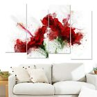 Design Art Red Lily Canvas Art Print Extra Large