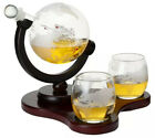 Elegant Whiskey Etched Globe Decanter SetWedding Father Husband Friend Gift