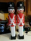 Vintage Union Products 30 Christmas Lighted Blow Mold Toy Soldiers Free Ship