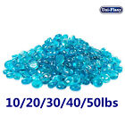 1 2 Blue Fire Glass Beads Rocks Round For Fireplace Fire Pit 10 20 30 40 50 lbs