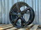 19x85 +35 RS6 STYLE 5X112 GLOSS BLACK WHEELS FITS AUDI A4 A5 A6 A7 RS3 RS4 RS5