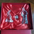 WATERFORD CRYSTAL Nativity Collection Holy Family Mary Jesus Joseph w Box