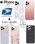 KATE SPADE Ombre Glitter Coral Pink Pastel Flowers iPhone 12 PRO MAX Hard Case