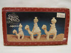 Enesco Precious Moments They Followed the Star Pewter Nativity Set 3 Wise Men