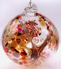 New Kitras Art Glass Hand Blown Ball Ornament Autumn Tree Of Enchantment 7 Inch
