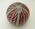 Peter McDougall Varied Twists  Latticino Ribbons Crown Paperweight 2 1 2
