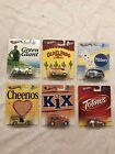 HOT WHEELS POP CULTURE GENERAL MILLS Complete Set Of 6 2013 FORD  GM RealRiders