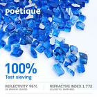1 2 Sparkling Blue Fire Glass 10 LB Reflective Tempered Fireglass for Fire Pit