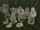 Princess House Nativity Lead Crystal Jesus Mary Joseph Angels Wise Men Sheep SET