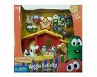 VEGGIE TALES NATIVITY SET LIGHTS SINGING ANGELS CHRISTMAS CHILDREN BIBLE TOYS