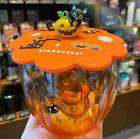 2020 New Starbucks Mug Pumpkin Cat Paw Glass Cup with Cover Lid Halloween Gifts