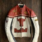 Red Bull Racing Leather Jacket Big Silhouette Red x White Vintage Size XXL Used