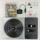 DJ Hero Turntable Kit Sony PlayStation 3 PS3 Complete W Game  Dongle Set Bundle
