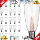 24 Pack Edison Replacement Light Bulbs 7W E17 for Outdoor Patio ST40 String Ligh