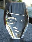 Vintage Orrefors Crystal Head Face Art Deco Nefertiti Child Glass Paperweight