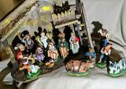 Vintage 15 Pc Italy Paper Mache Creche Figures 5 8 Christmas Nativity EUC JH