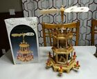 VINTAGE WEIHNACHTS PYRAMIDE 3 TIER NATIVITY CAROUSEL WINDMILL GERMANY Birth