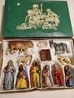 Vintage 13 pc Hand Painted Nativity West Germany Friedel Bavaria Krippenfiguren