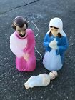Vtg Empire Nativity Blow Mold Christmas Jesus Mary Joseph Lighted Yard Decor Set