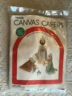 1982 Leisure Arts Canvas Capers Three Kings Plastic Christmas Nativity Kit 433