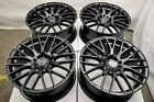 17 Wheels Fit Audi TT Ford Fusion Honda Accord Civic Prelude Altima Black Rims