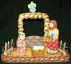 WOW HAND CARVED  HAND PAINTED RUSSIAN NATIVITY SET 0473