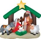 6 Ft Lighted Holy Family Nativity Manger Christmas Inflatable Outdoor Yard Decor