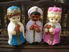 Vintage EMPIRE 3 Child Wise Men Nativity Blow Mold Set with Lights