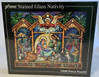 Vermont Christmas Jigsaw Puzzle Stained Glass Nativity VC135 1000 Piece