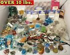 10LBS HUGE LOT of Jewelry Making Supplies Beads Findings Pendants Silver