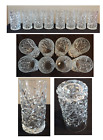 Vintage Drinking Glass Tumblers 14 oz Heavy Glass Deep Cut Set of 8 Made in USA
