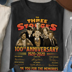 The Three Stooges 100th Anniversary All Cast Signed Gift For Fan T-Shirt S-3XL