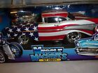Muscle machines 57 Chevy Stars and Red white Braided steel fuel lines 2002 MIB