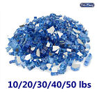 1 2 Reflective Fire Glass for Fireplace Fire Pit Ocean Blue 10 20 30 40 50 lbs