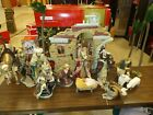 Retired 16 Piece Living Home Nativity Set Fine Porcelain Handcrafted Large