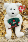 TY Merriment the bear beanie baby of month babies beanies Christmas holiday BBOM