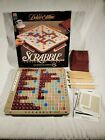 Vtg 1989 Scrabble Tile Deluxe Edition Game With Turntable Rotating Board 4034