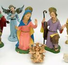 Vintage Fontanini Nativity 13 Figures Marked Depose Spider Made in Italy 5